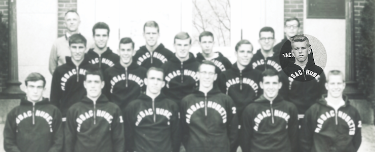 The 1964 UMass Amherst Varsity Cross Country Team, including James Parker
