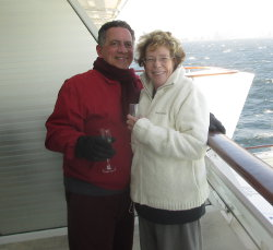 Joe Carnevale and Mary Carnevale smiling